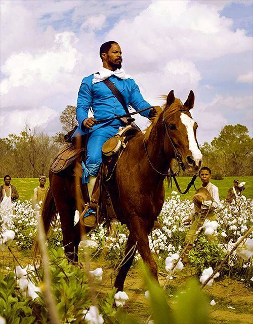 Jamie Foxx and Tony.  This is his own horse IRL.