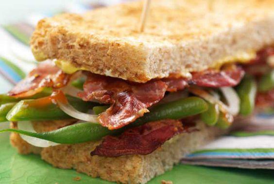 Steak-Sandwich mit Bohnencreme #goldentoast