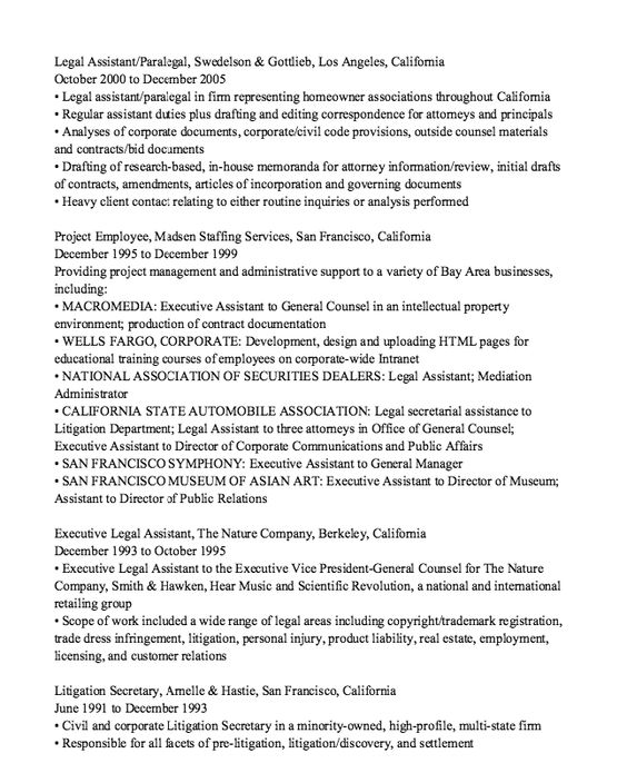 Independent Contractor Resume Sample -    resumesdesign - sample legal secretary resume