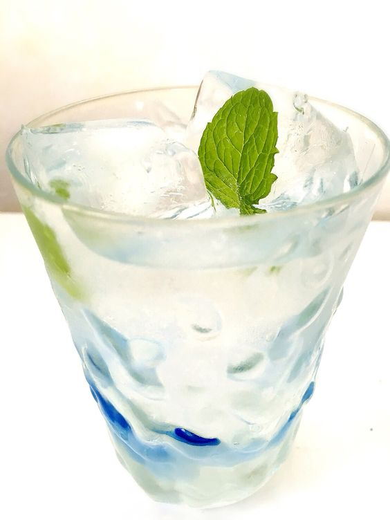 Ice mint water