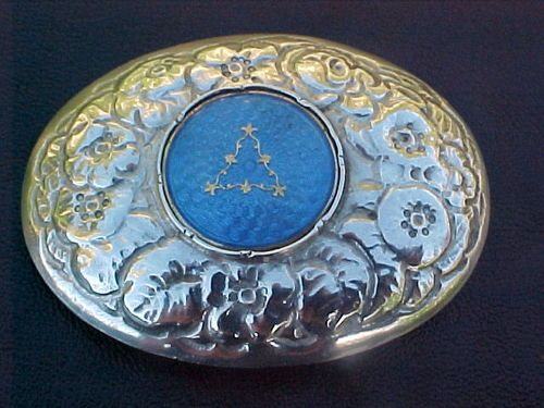 Antique Norwegian Hallmarked Silver and Enamel Brooch Bergen 1880 | eBay