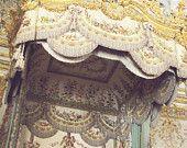 Marie Antoinette Decor, French 8x10 Paris -  Fine Art Photo - Gold Print-- Paris Photo - Queen Bed - Decadent Gold - Bows, Crown, Eagle
