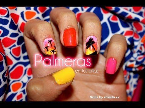 Palm Tree nail Tutorial