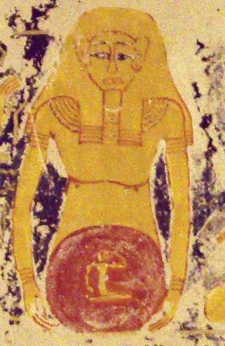 Sun in the womb of Nut Detail (Tomb of Ramses VI, Valley of the Kings)