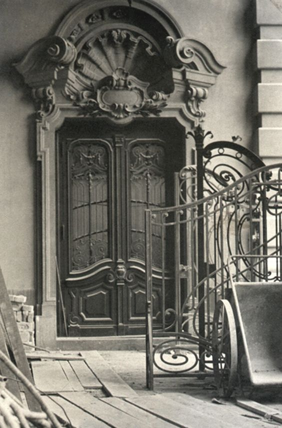 1953 - Teatro Municipal de São Paulo - Reforma do prédio, portal no Hall de Entrada na fachada lateral esquerda