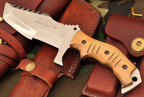 CFK Ipak USA Custom Handmade D2 Battle Raptor V Tanto Tracker Hunter Knife 2nd B | eBay
