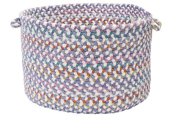 Color Frenzy Basket, Purple on OneKingsLane.com