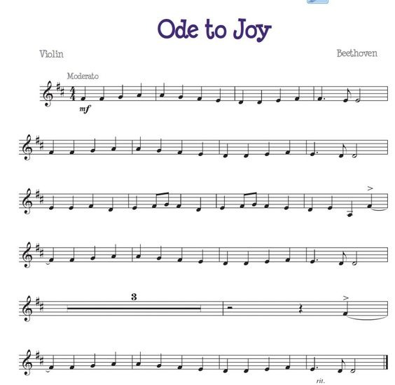 Violin Sheet Music For Beginners Ode to joy, For the an...