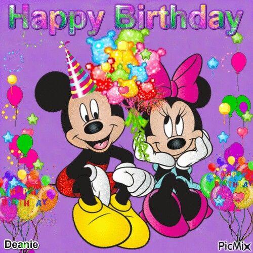 Mickey And Minnie Mouse Happy Birthday Disney Happy Birthday