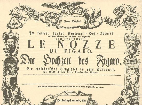 First Marriage Of Figaro Playbill 1786 Amadeus Music Videos Youtube