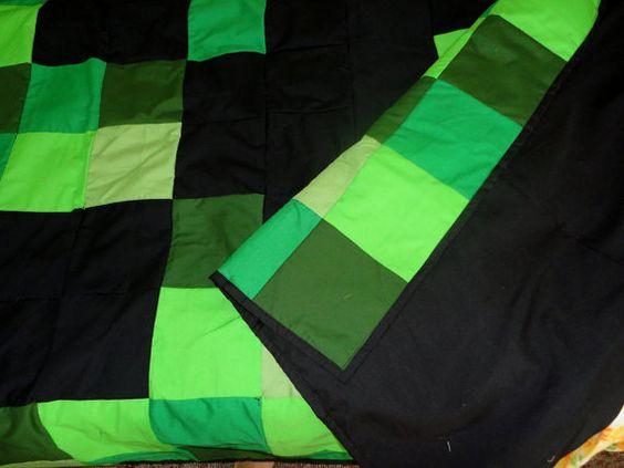 Creeper Minecraft Bedspread Isew Pinterest Quilt