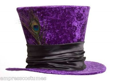 Top Hat Purple Mad Hatter Alice in Wonderland Costume Theme Party $52.90