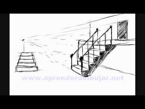 Como Dibujar Escaleras Bocetos De Dibujos De Casas Y Edificios Youtube Dibujo De Casa Punto De Fuga Dibujo Paso A Paso