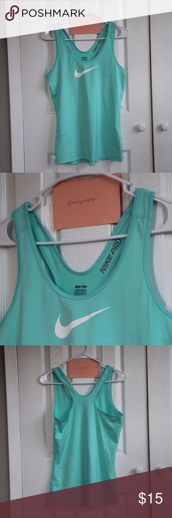 Nike Pro: Dri-fit Tank Top This tank top is perfect for your daily workout or to wear as a stylish shirt under a denim jacket! Nike Tops Tank Tops