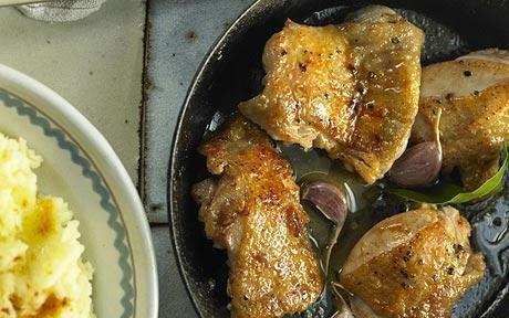 José Pizarro recipe: pan-fried pimentón chicken with mashed potato ...