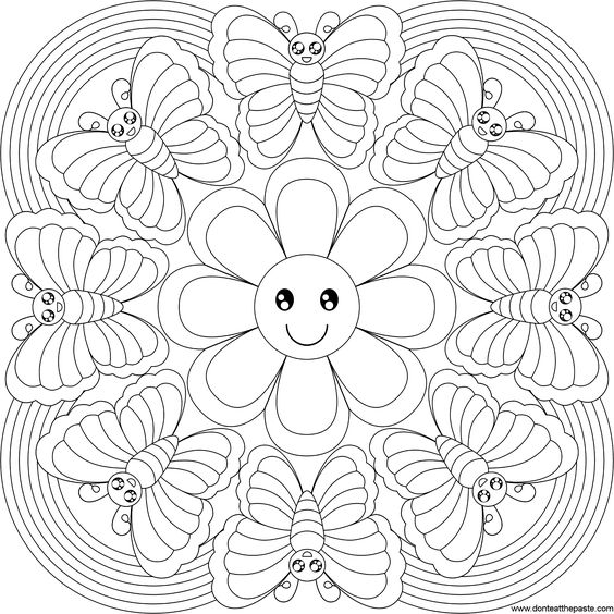 cool flower pattern coloring pages - photo#43