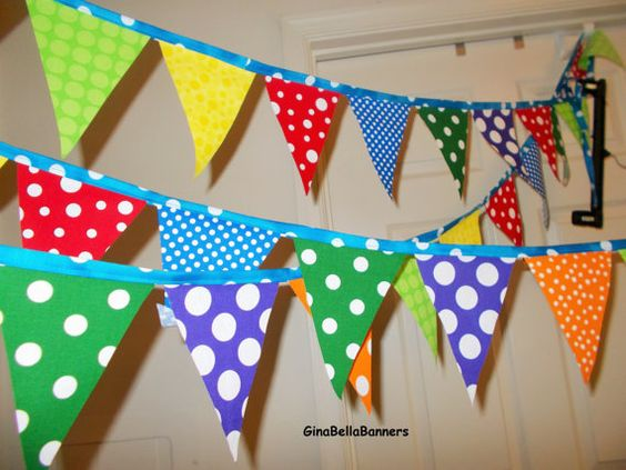 Circus banner rainbow Carnival wedding bridal by GinaBellaBanners