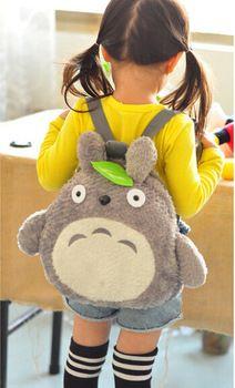 Kawaii Totoro felpa de la novedad del bolso de escuela del bolso del bebé de la taleguilla mochilas TRD