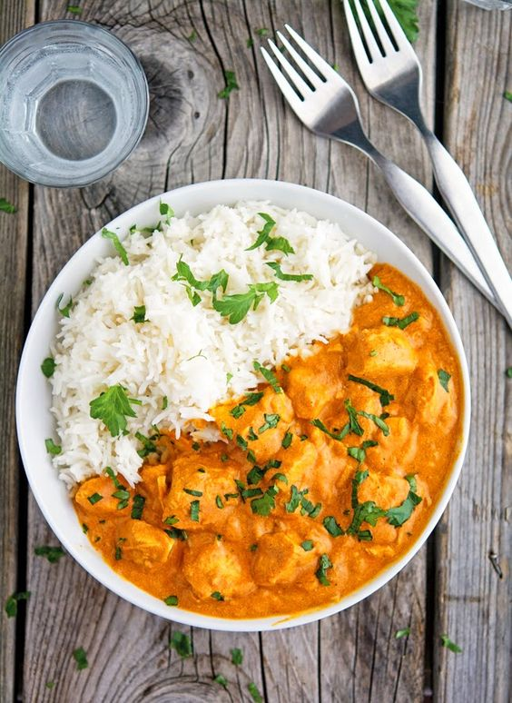This creamy tikka masala takes a mere minutes to make. Toss all of your ingredients in a crock pot and enjoy your day! You'll come back to find a zesty, flavorful tikka masala waiting for you. Easily made dairy-free by substituting coconut milk.