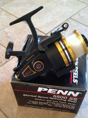 Penn 5500 ss spinning reel box made in usa gone for Fishing reels made in usa