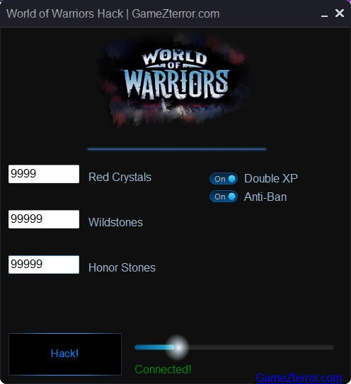 Become a hero and a warrior today. Download the latest addition to the World of Warriors Hack and enjoy great entertainment. Enjoy the game! http://gamezterror.com/world-of-warriors-hack/