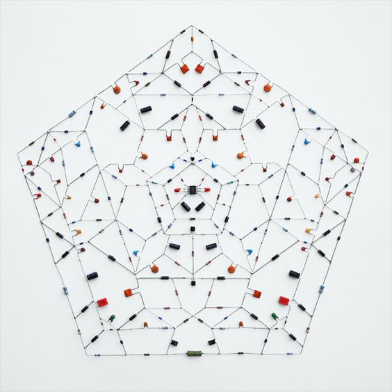 Title: Electronic mandala 01  When: November | 2011  What: Electronic components, microchip, 38 x 35 cm.