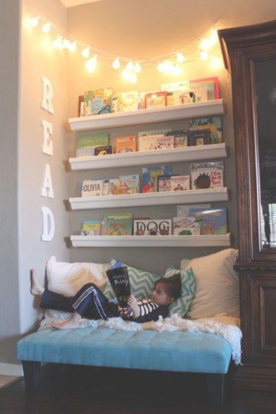 Wondering How To Make The Cutest Little Kids Reading Nook To