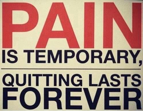 Pain always goes away...