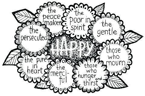 Beatitudes Coloring Pages Beatitudes Coloring Page Beatitudes Clip