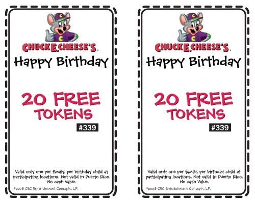 Chuck e cheese coupons discounts