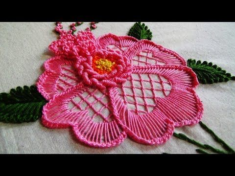 1 Hand Embroidery Flower Embroidery For Cushions Youtube Brazilian Embroidery Ribbon Embroidery Hand Embroidery Designs