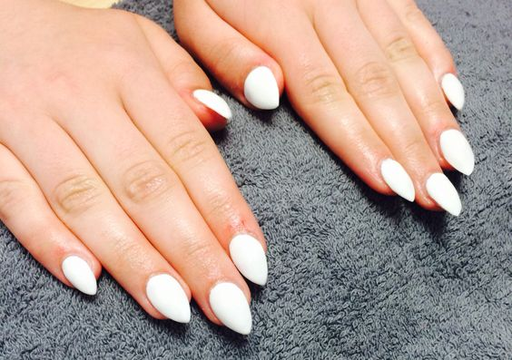 White stiletto-Tia Dartnell's nail creations! our nail technician here at Faith hair and beauty. ❤️
