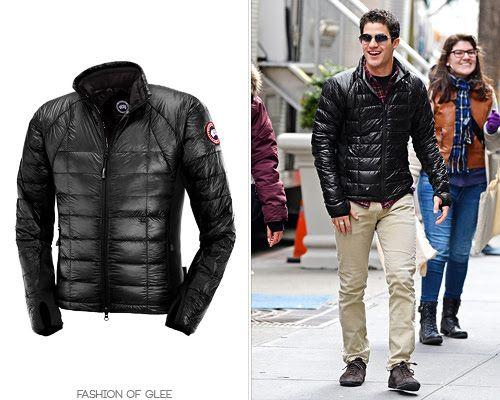 Glee S Darren Criss Looking Fabulous In The Canada Goose Hybridge Lite Jacket Buy It Now Www Accentclothin Glee Fashion Fashion Canada Goose Fashion