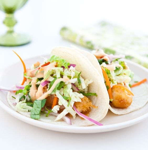 Tilapia fish tacos with cabbage slaw for Fish tacos cabbage
