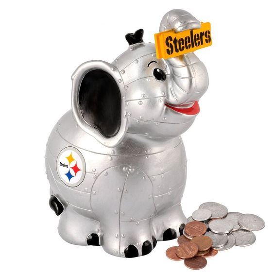 2013 Pittsburgh Steelers Team Elephant Piggy Bank - New - Scarce !!! #ForeverCollectibles #PittsburghSteelers
