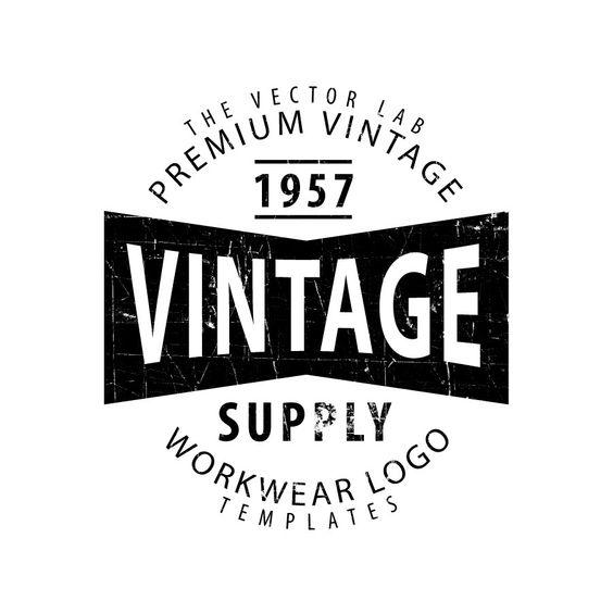 Workwear Vintage Logo Templates | Logos | Pinterest | Vintage ...