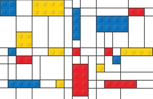 Piet Mondrian with LEGO bricks