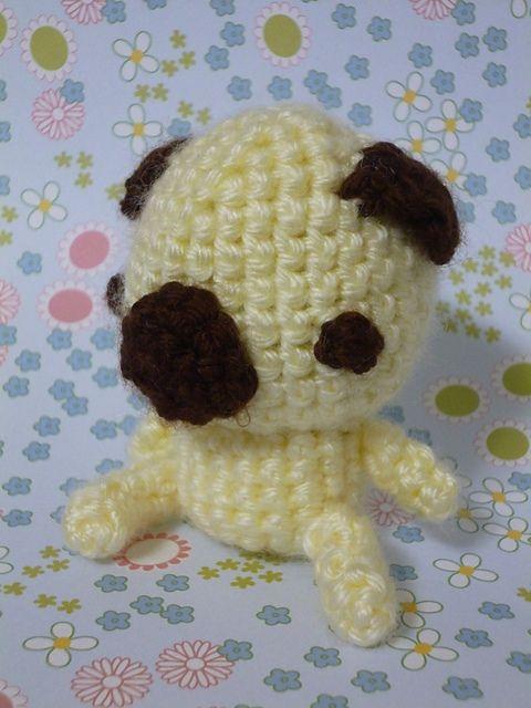 Amigurumi Free Patterns Dog : Amigurumi Pug Puppy - FREE Crochet Pattern / Tutorial ...