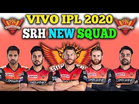 Ipl 2020 Sunrisers Hyderabad Final Team Squad Ipl Ipl Cricket Match Squad