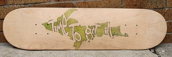 Upper Peninsula Skate Deck by Norteaa on Etsy, $33.00