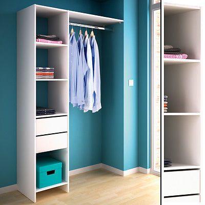 kleiderschrank 5578 offen begehbar regal kleiderst nder schrank wei garderobe zuk nftige. Black Bedroom Furniture Sets. Home Design Ideas