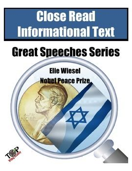 elie wiesel speech summary Elie wiesel - nobel lecture nobel lecture, december 11, 1986 hope, despair and memory a hasidic legend tells us that the great rabbi baal-shem-tov, master of the.