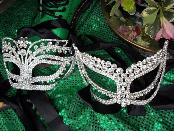 Crystal Masquerade Masks #reflections_vintage_toronto #masks #masquerade #masqueradeball