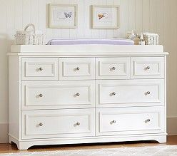 Baby Changing Tables & Changing Table Pads | Pottery Barn Kids - add custom knobs