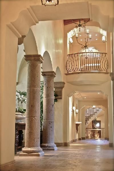 Tuscan Design Columns And Hallways On Pinterest