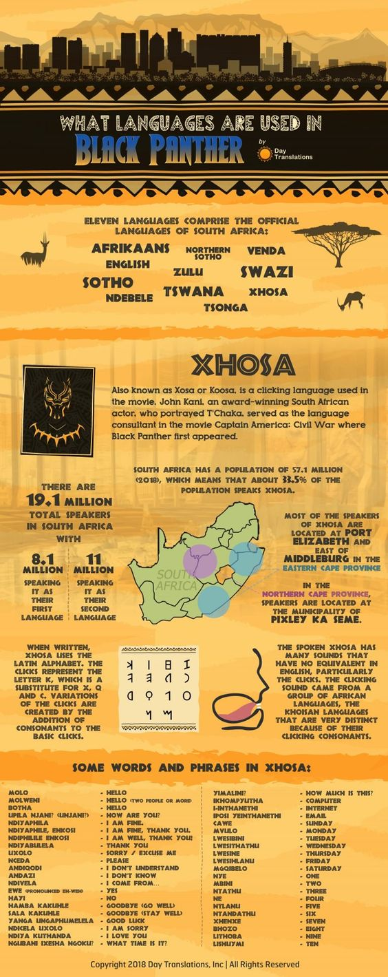 What Languages Are Used In The Black Panther Movie Black Panther Language Panther