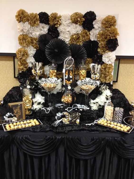 Great gatsby themed candy buffet by sweet girls