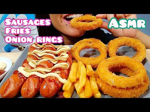 Asmr European Sausages Fries Onion Rings Eating Sounds Youtube Onion Rings Onion Eat Listening to whisper voice and eating sounds are some examples that trigger asmr. pinterest