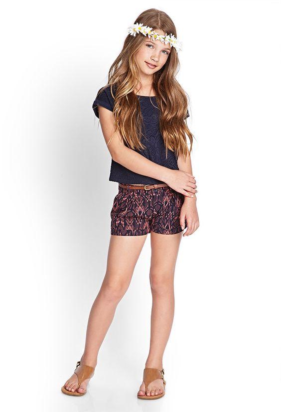 Tribal Print Woven Shorts (Kids) | FOREVER21 girls - 2000087773 ...