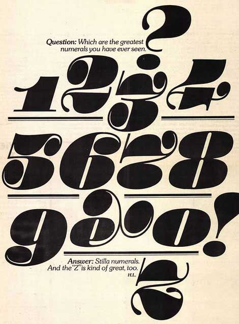 Stilla Numerals By Francois Boltana C.1973